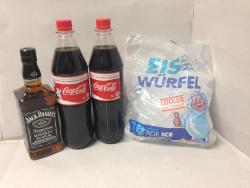 1x JACK DANIELS 0,7l 40% vol + 2x Coca Cola 1l + EIS